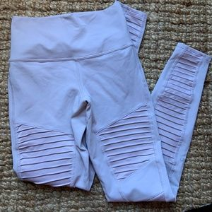 Alo Yoga Moto Leggings Light Purple Size Small